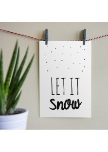 "Kerstkaart ""Let It Snow"""