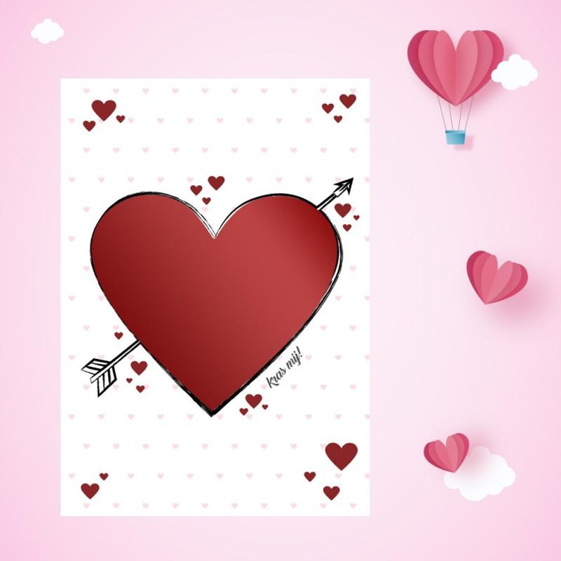 Valentijn kraskaart zonder namen