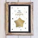 Persoonlijke kraskaart met ster