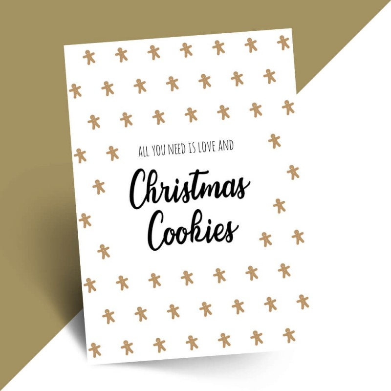 Grappige kerstkaart christmas cookies