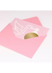 "Roze envelop ""Girl"""