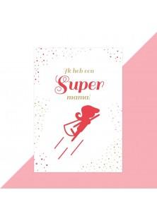 Moederdag kaart super mama