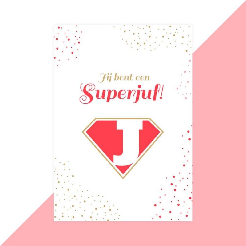 Juf kaartje superjuf