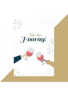 Verjaardagskaart sip sip hooray