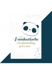 Panda verjaardagskaart