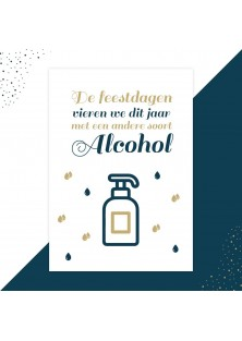 Alcohol kerstkaart