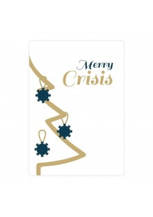 Merry crisis corona kerstkaart