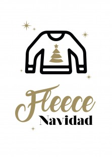 """Kerstkaart """"Fleece Navidad"""""""