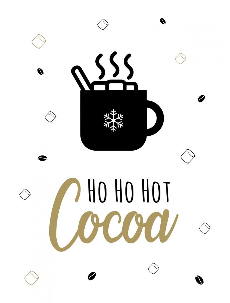 Grappige kerstkaart hot cocoa