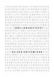 """Kerstkaart """"Woordpuzzel"""" NL"""
