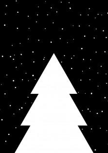"""Kerstkaart """"Kerstboom By Night"""""""