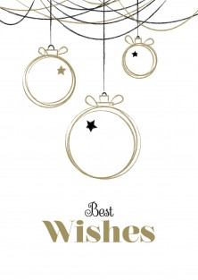 "Kerstkaart ""Best Wishes"""