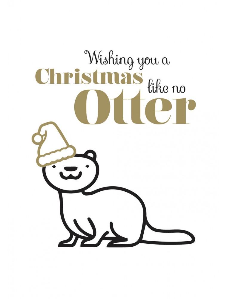 """Kerstkaart """"Like No Otter"""""""