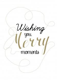 """Kerstkaart """"Merry Moments"""""""