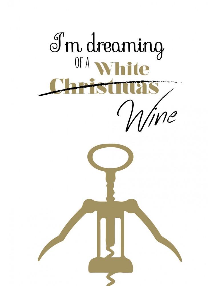 """Kerstkaart """"White Wine"""""""