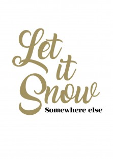 "Kerstkaart ""Somewhere Else"""