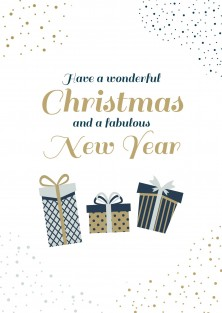 Kerstkaart fabulous new year