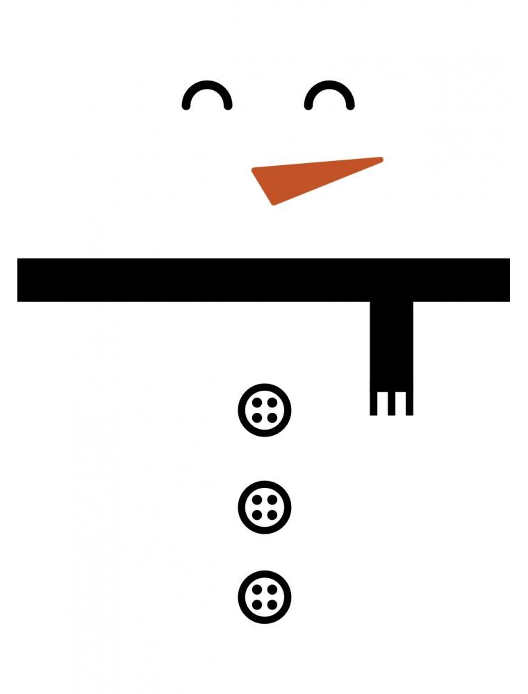 Grappige kerstkaart snowman