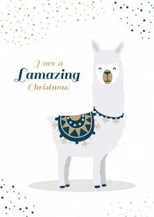 Kerstkaart Lamazing christmas