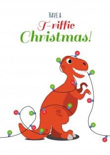 Dinosaurus kerstkaart