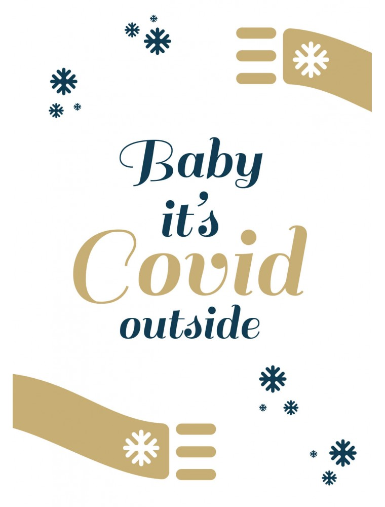 Covid kerstkaart corona
