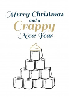 Crappy new year - corona kerstkaart