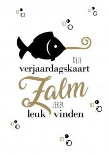 Grappige verjaardagskaart vissen