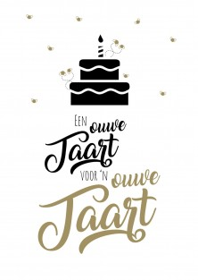 Grappige verjaardagskaart ouwe taart