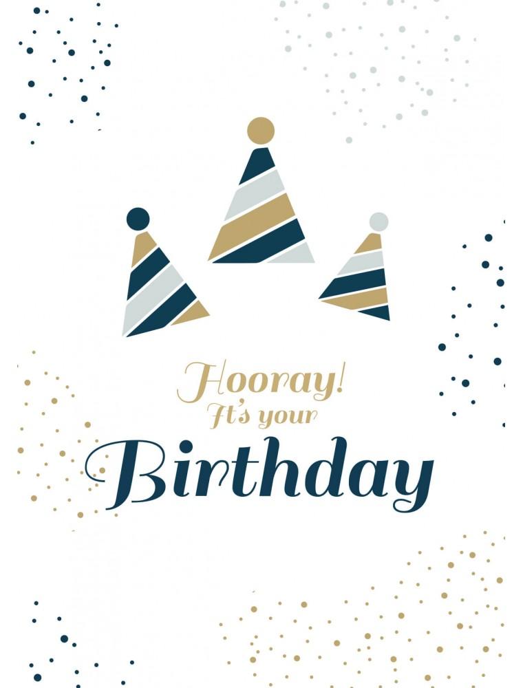 Verjaardagskaart hooray it's your birthday