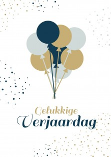 Verjaardagskaart ballonnen