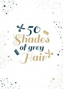 Verjaardagskaart grey hair