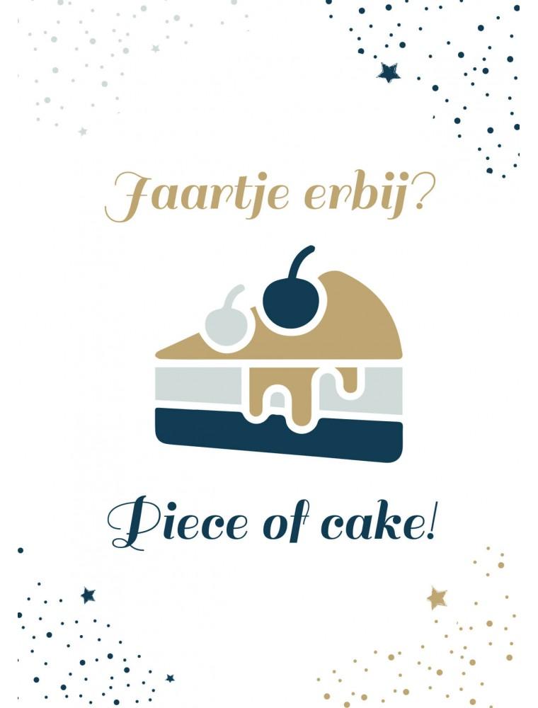 Verjaardagskaart piece of cake