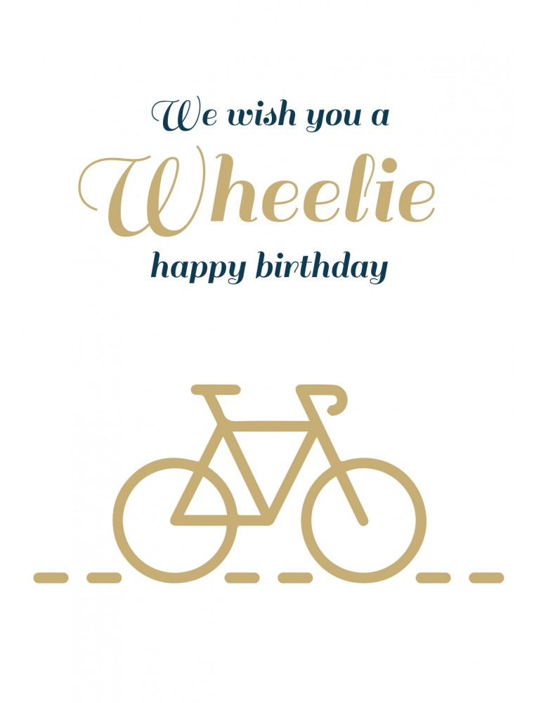 Wheelie happy birthday
