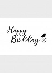 """Verjaardagskaart """"Happy Birdday"""""""