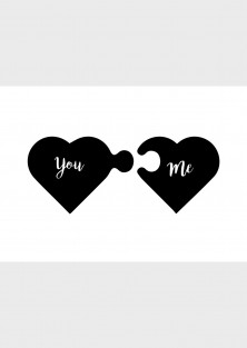 """Wenskaart """"You & Me"""""""