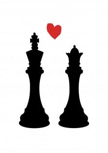 """Wenskaart """"King And Queen"""""""
