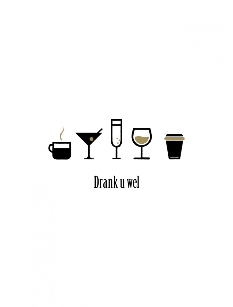 """Bedankingskaart """"Drank U Wel"""""""
