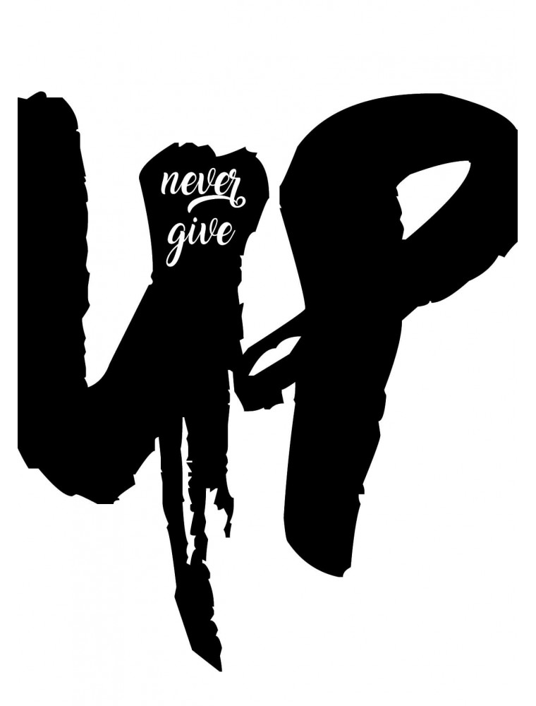 """Wenskaart """"Never Give Up"""""""