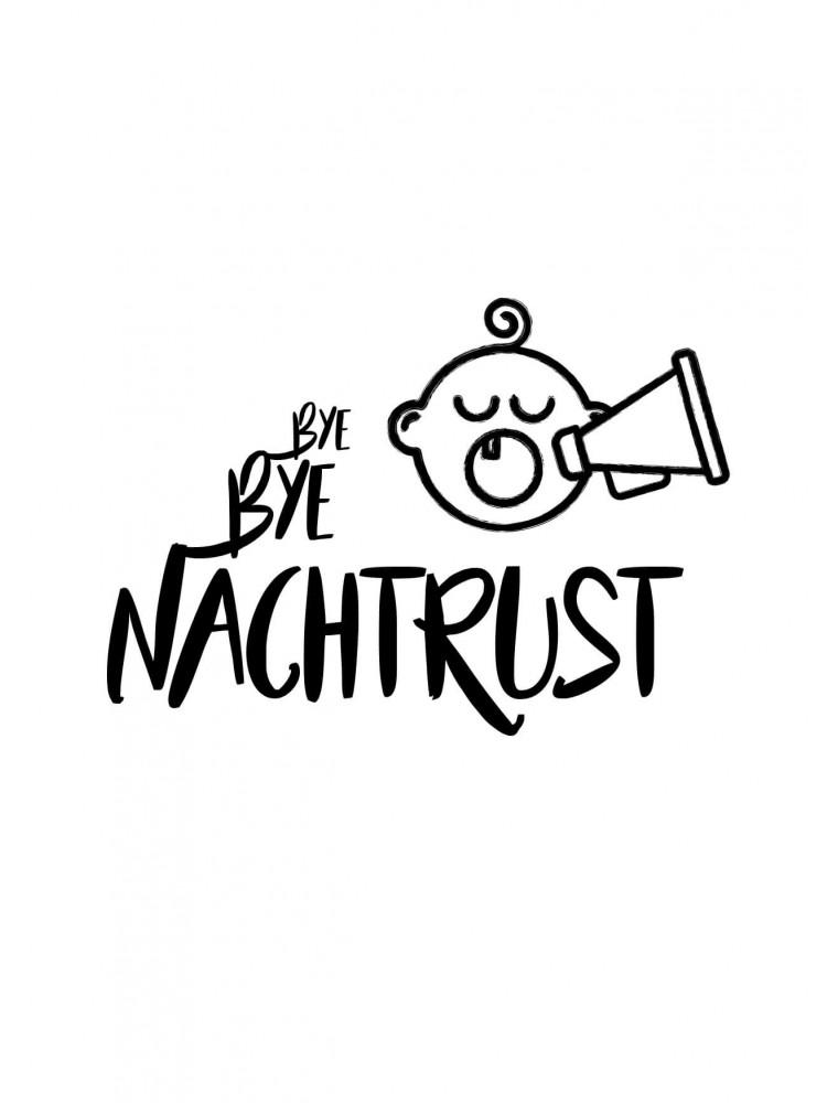 """Geboortekaart """"Bye Bye Nachtrust"""""""