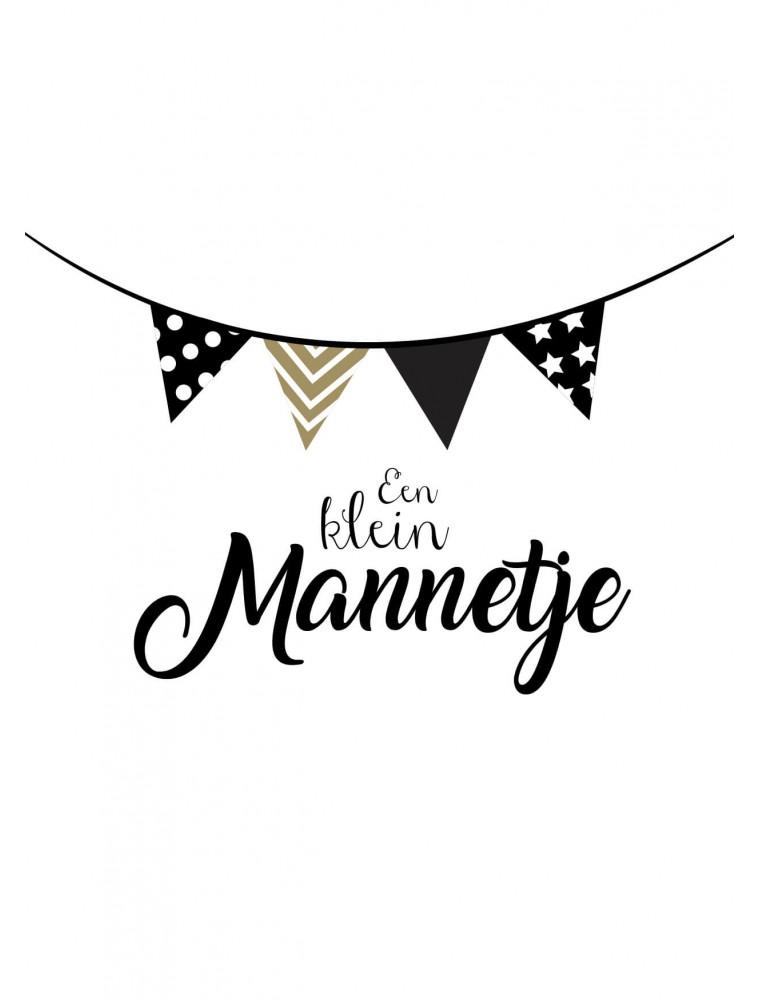 """Geboortekaart """"Klein Mannetje"""""""