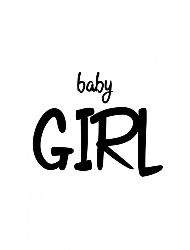 """Geboortekaart """"Baby Girl"""""""