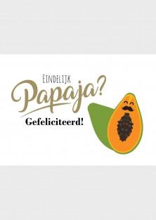 """Geboorte wenskaart """"Papaja"""""""