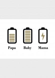 Geboortekaartje batterij