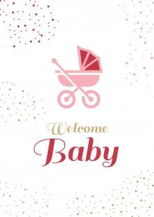 Geboortekaartje Welcome baby