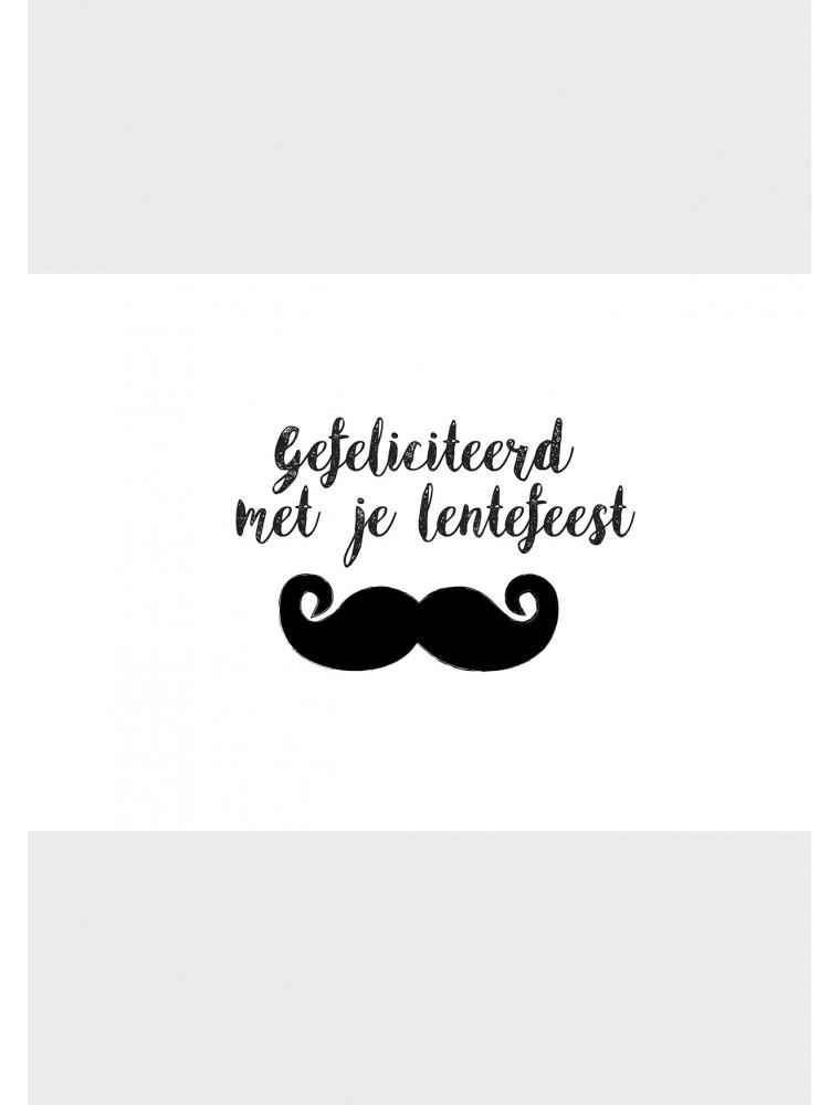 """Wenskaart """"Lentefeest Snor"""""""