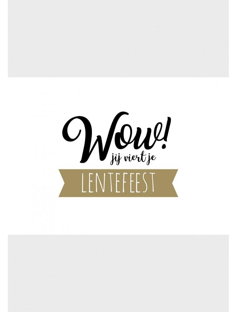 "Wenskaart ""Lentefeest Wow"""