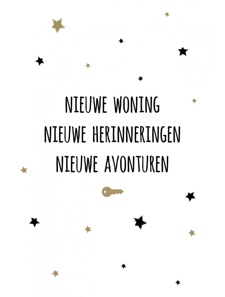 """Wenskaart """"Nieuwe Woning"""""""