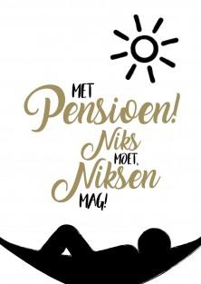 """Wenskaart """"Niksen Mag"""""""