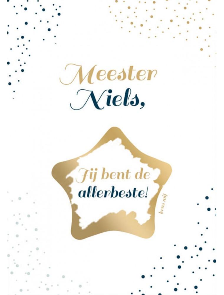 Persoonlijke kraskaart meester