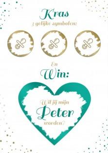 Win peter worden kraskaart